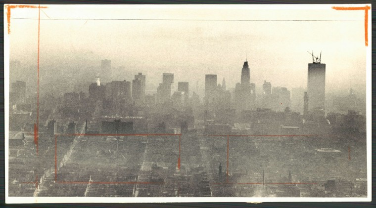 Haze over Baltimore, photo dated January 18, 1973. (Baltimore Sun archives)