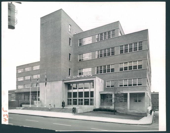 The Sun building, 1954.