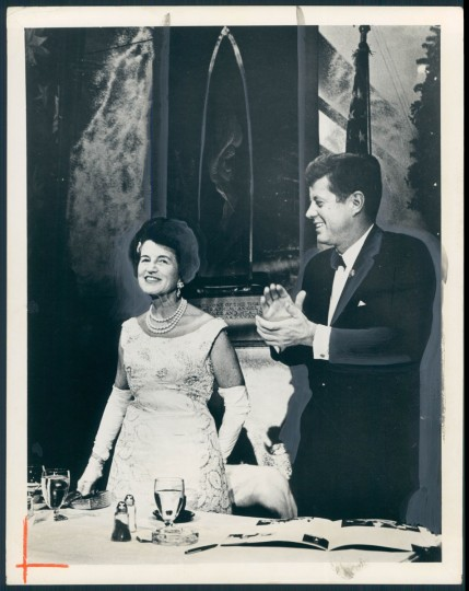 President John F. Kennedy with his mother, Rose, at White House dinner in 1962. (Baltimore Sun archives)