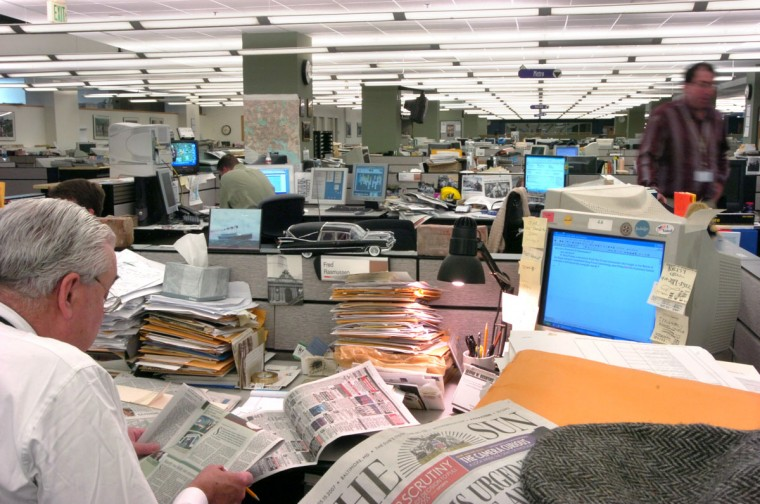 The Sun newsroom in 2007. (Jed Kirschbaum/Baltimore Sun)