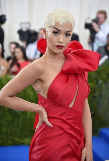 "NEW YORK, NY - MAY 01: Rita Ora attends the ""Rei Kawakubo/Comme des Garcons: Art Of The In-Between"" Costume Institute Gala at Metropolitan Museum of Art on May 1, 2017 in New York City. (Photo by Theo Wargo/Getty Images For US Weekly)"