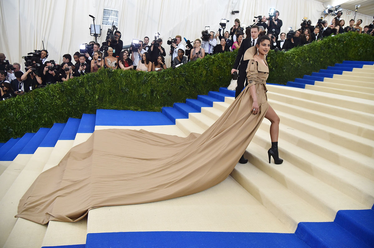 On the red – or beige – carpet at the 2017 Met Gala