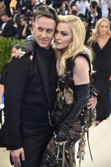 "NEW YORK, NY - MAY 01: Jeremy Scott (L) and Madonna attend the ""Rei Kawakubo/Comme des Garcons: Art Of The In-Between"" Costume Institute Gala at Metropolitan Museum of Art on May 1, 2017 in New York City. (Photo by Theo Wargo/Getty Images For US Weekly)"