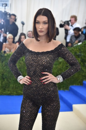 "NEW YORK, NY - MAY 01: Bella Hadid attends the ""Rei Kawakubo/Comme des Garcons: Art Of The In-Between"" Costume Institute Gala at Metropolitan Museum of Art on May 1, 2017 in New York City. (Photo by Theo Wargo/Getty Images For US Weekly)"