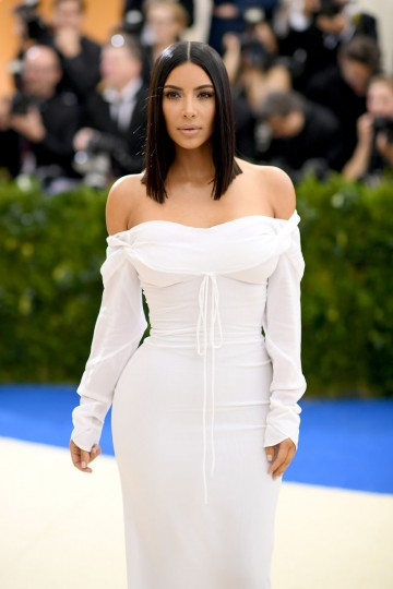 "NEW YORK, NY - MAY 01: Kim Kardashian attends the ""Rei Kawakubo/Comme des Garcons: Art Of The In-Between"" Costume Institute Gala at Metropolitan Museum of Art on May 1, 2017 in New York City. (Photo by Dimitrios Kambouris/Getty Images)"