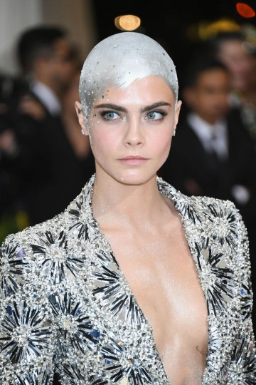 "NEW YORK, NY - MAY 01: Cara Delevingne attends the ""Rei Kawakubo/Comme des Garcons: Art Of The In-Between"" Costume Institute Gala at Metropolitan Museum of Art on May 1, 2017 in New York City. (Photo by Dia Dipasupil/Getty Images For Entertainment Weekly)"