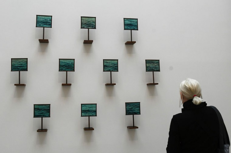 "The installation ""Our Naufrage"" by Canadian artist Hajra Waheed. (VINCENZO PINTO/AFP/Getty Images)"
