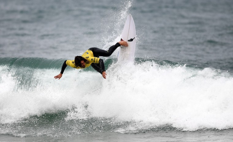 Uruguay's Marco Giorgi competes in the heats 33 - Round 1 on May 23, 2017 in Biarritz, southwestern France, during the 2017 ISA World Surfing Games. (Franck Fife/AFP/Getty Images)