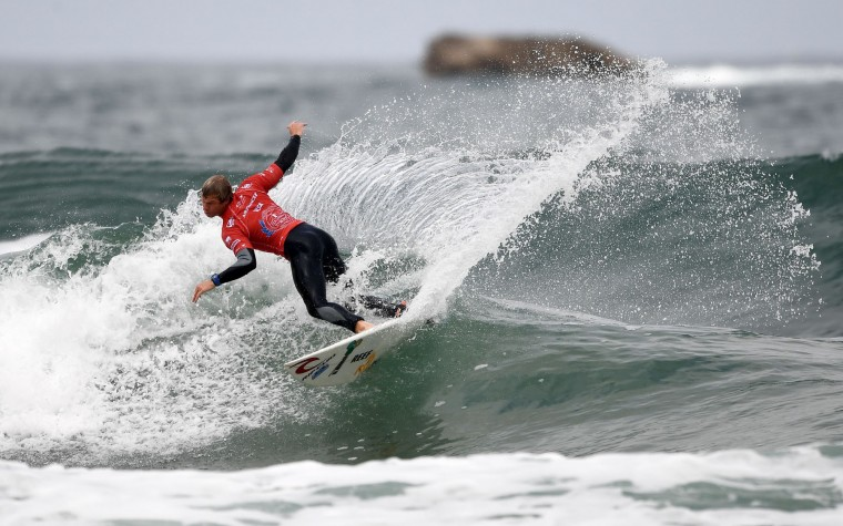 Argentina's Leandro Usuna competes in the heats 31 - Round 1 on May 23, 2017 in Biarritz, southwestern France, during the 2017 ISA World Surfing Games. (Franck Fife/AFP/Getty Images)
