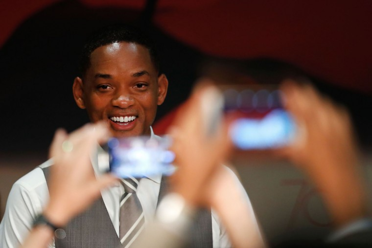 US actor and member of the Feature Film jury Will Smith poses for a picture as he attends on May 17, 2017 a press conference ahead of the opening ceremony of the 70th edition of the Cannes Film Festival in Cannes, southern France. (Laurent Emmanuel/AFP/Getty Images)