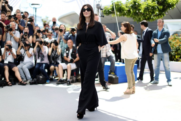 Italian actress and master of ceremonies Monica Bellucci arrives on May 17, 2017 for a photocall ahead of the opening ceremony of the 70th edition of the Cannes Film Festival in Cannes, southern France. (Valery Hache/AFP/Getty Images)