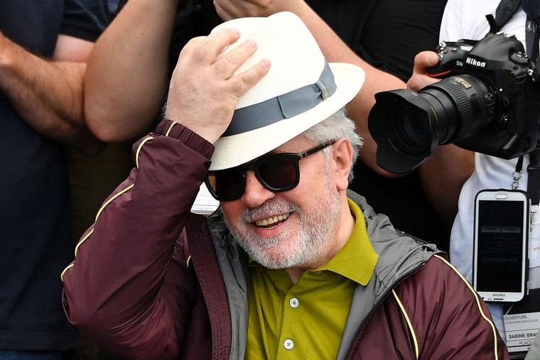 Spanish director and President of the Feature Film Jury Pedro Almodovar poses on May 17, 2017 among photographers during a photocall ahead of the opening ceremony of the 70th edition of the Cannes Film Festival in Cannes, southern France. (Loic Venance/AFP/Getty Images)