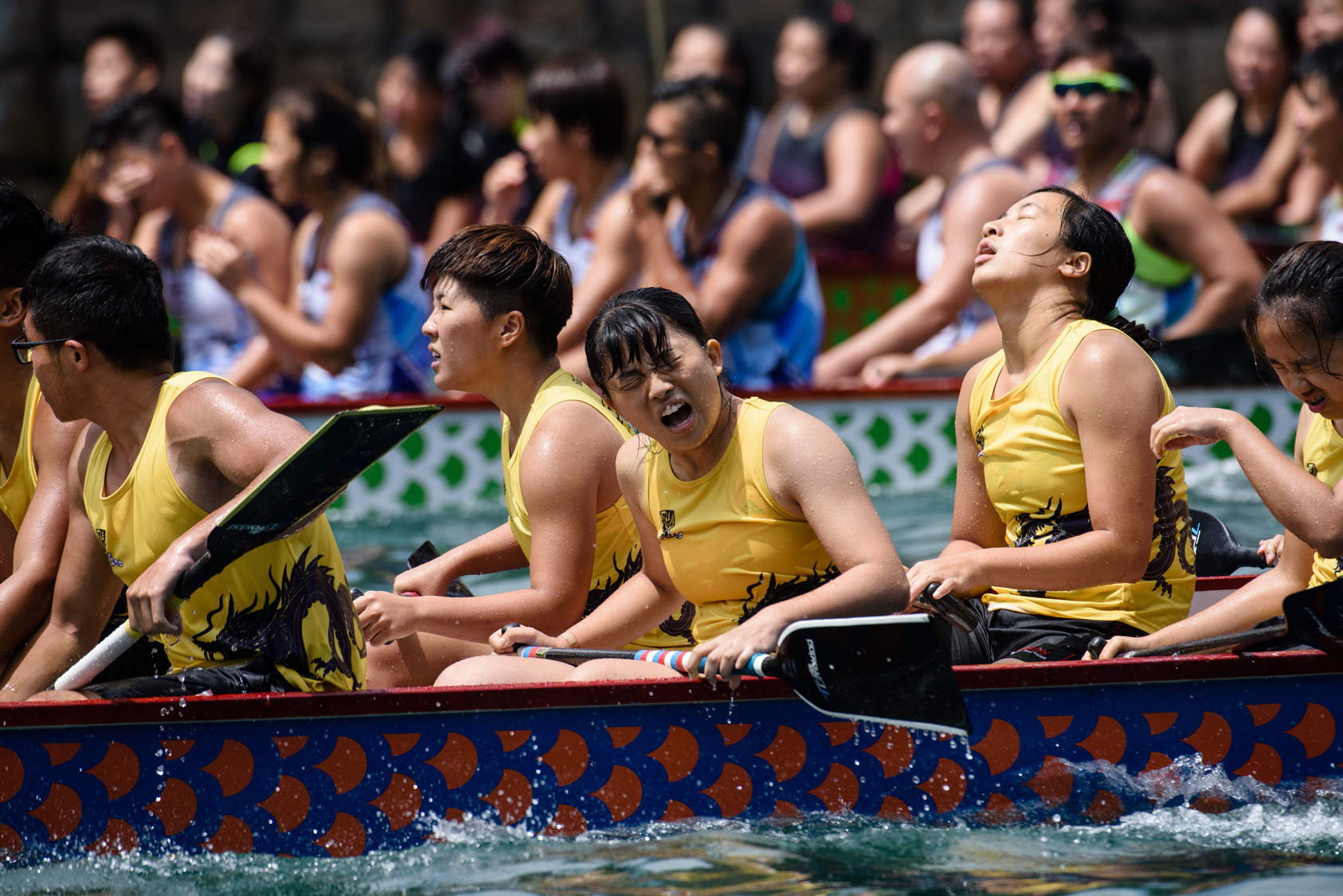 Annual dragon boat race in Hong Kong