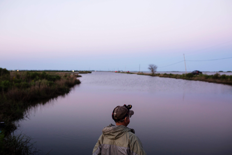 The Louisiana coastland home to the U.S.'s first climate refugees