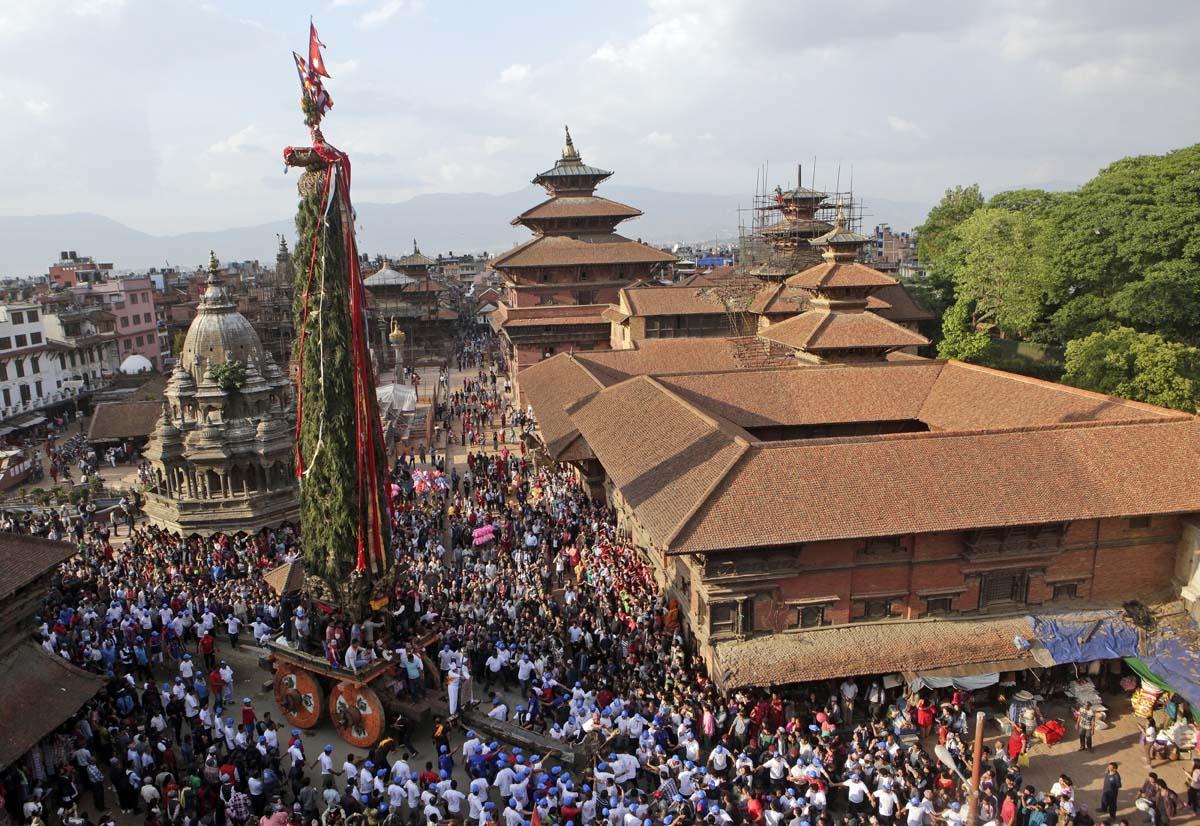 Nepal's Rato Machindranath Chariot festival