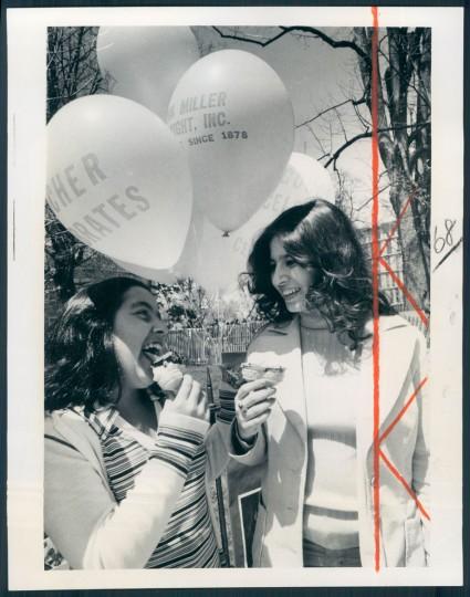 Alexandra Lopez, Belinda Despuzols at Towsontowne Arts Festival 1975