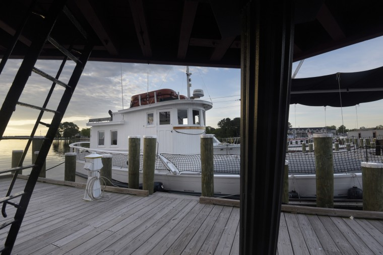 The Winnie Estelle, a 1920 buyboat,  is available for river cruises. The captain of a buyboat  would buy watermen's catches and take them to large markets for sale. (Algerina Perna/Baltimore Sun)