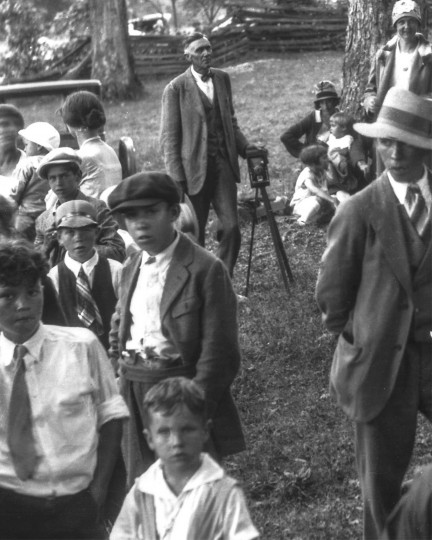 Finley Taylor carried his cameras to social events in Richwood to capture loggers and their families in their Sunday best.