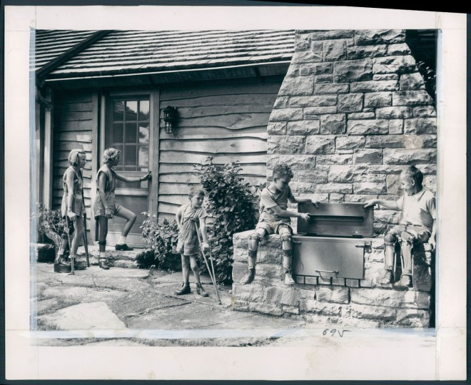 Children at Camp David, Catoctin. Photo dated August 21, 1947. (Baltimore Sun archives)