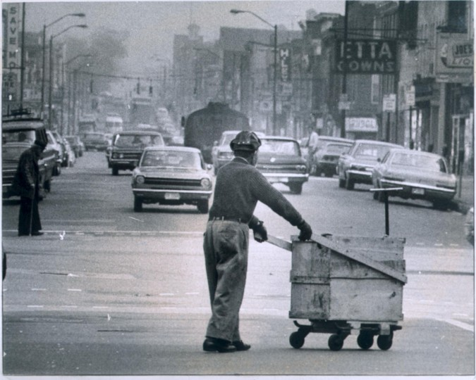 Eastern Avenue, photo dated April 14, 1970. (Baltimore Sun)