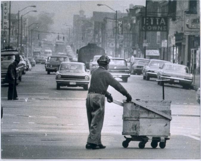 Eastern Avenue, photo dated April 14, 1970. (Baltimore Sun)
