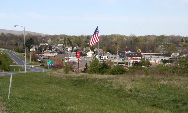 2012 photo of Thurmont, Maryland. The town of less than 6,200 residents sits just off Route 15 in Frederick County, a main thoroughfare for traffic in and out of Catoctin Mountain Park, the location of Camp David. (Kevin Rector/Baltimore Sun)