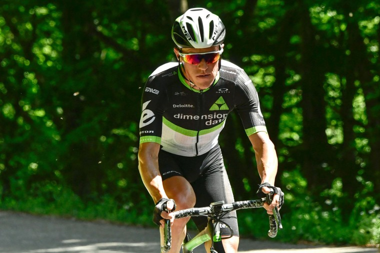 Belgium's Serge Pauwels rides in a breakaway during the 147,5 km sixth stage of the 69th edition of the Criterium du Dauphine cycling race on June 9, 2017 between Villars-les-Dombes and La Motte-Servolex. (Philippe Lopze/AFP/Getty Images)