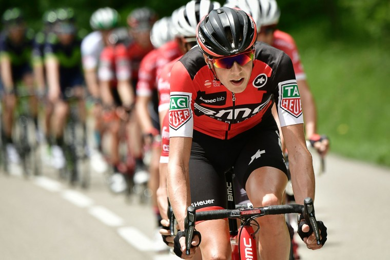 Belgium's Ben Hermans rides in the pack during the 147,5 km sixth stage of the 69th edition of the Criterium du Dauphine cycling race on June 9, 2017 between Villars-les-Dombes and La Motte-Servolex. (Philippe Lopze/AFP/Getty Images)