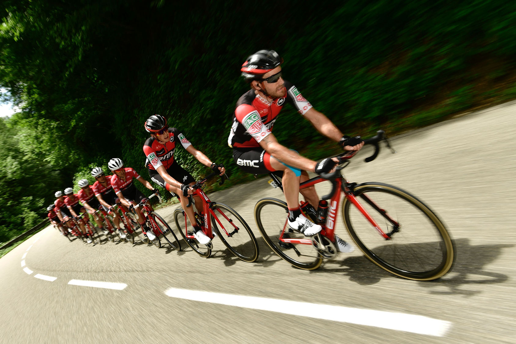 Criterium du Dauphine cycling race in France