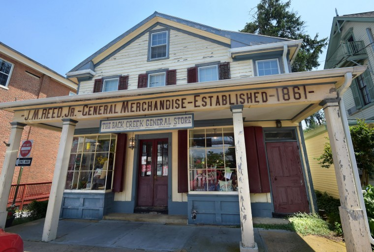 The J.M. Reed, Jr. General Merchandise building established in 1861 now houses the Back Creek General Store which sells gifts and is open year-round. (Algerina Perna/Baltimore Sun)
