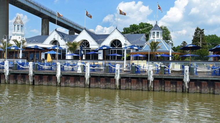 Schaefer's Canal house restaurant on the north side is a short ferry ride from the south side. The picture was taken from the Chesapeake City Ferry piloted by D. J. Fasick.(Algerina Perna/Baltimore Sun)