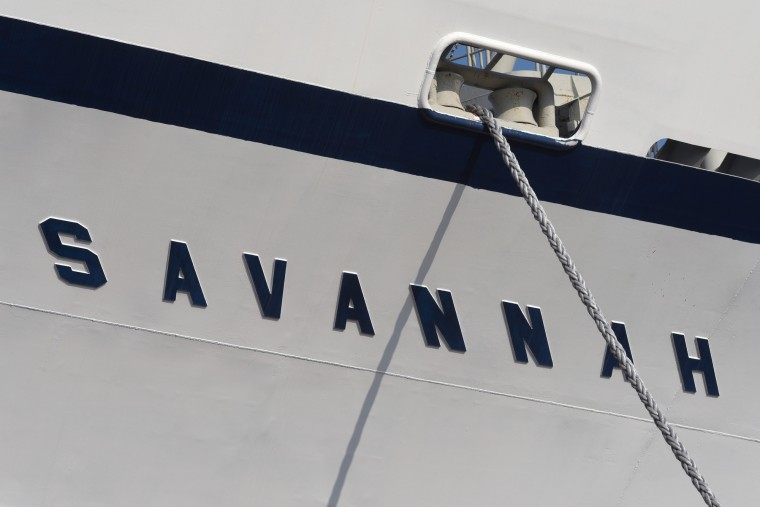 The N.S. Savannah was named after the S.S. Savannah, the first steamship to cross the Atlantic in 1819. (Amy Davis/Baltimore Sun)