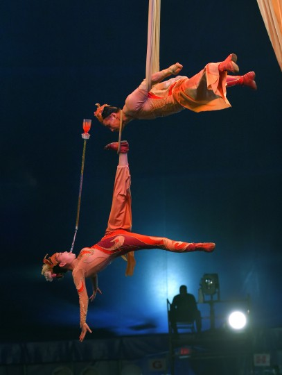Members of the Shenyang Silks perform at the UniverSoul Circus.(Lloyd Fox/Baltimore Sun)