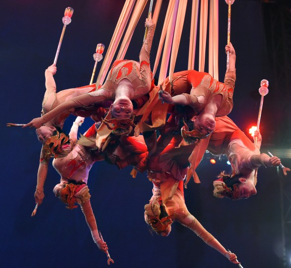 Members of the Shenyang Silks perform at the UniverSoul Circus which brings their big top performance to Baltimore for 35 shows. (Lloyd Fox/Baltimore Sun)