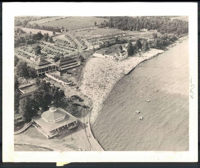 Aerial view of Bay Shore Amusement Park, August 1947. (Baltimore Sun archives)