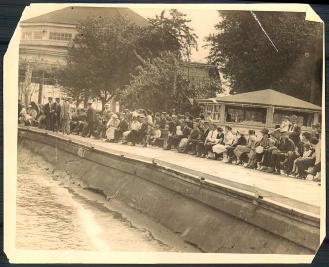 Bay Shore Park, photo dated June 4, 1925. (Baltimore Sun archives)