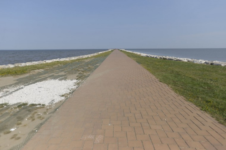 The pier at North Point State Park juts into the Chesapeake Bay and is an ideal location for walking and fishing. It was recently rebuilt. (Christina Tkacik/Baltimore Sun)