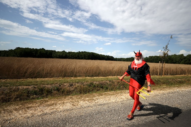 Didi 'The Devil' Senft walks on the road during stage seven of the 2017 Le Tour de France, a 213.5km stage from Troyes to Nuits-Saint-Georges on July 7, 2017 in Nuits-Saint-Georges, France. (Photo by Chris Graythen/Getty Images)