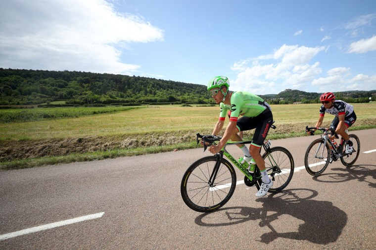 Dylan Van Baarle of Netherlands riding for Cannondale Drapac rides in the breakaway during stage seven of the 2017 Le Tour de France, a 213.5km stage from Troyes to Nuits-Saint-Georges on July 7, 2017 in Nuits-Saint-Georges, France. (Photo by Chris Graythen/Getty Images)