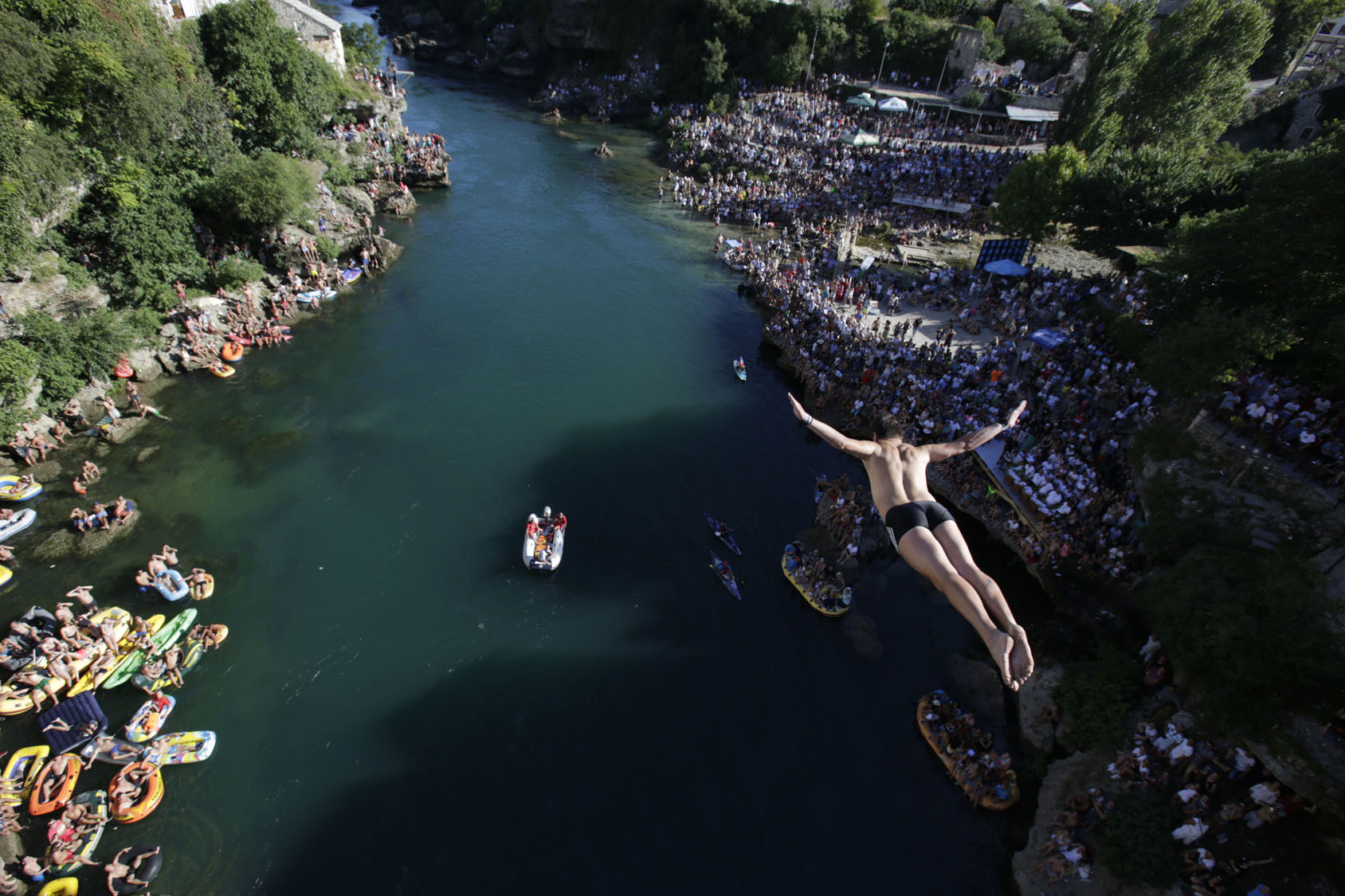 High diving in Bosnia