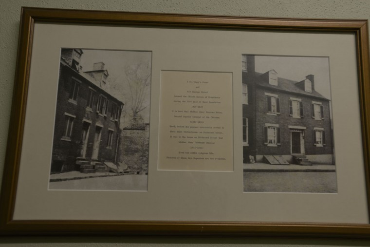 "Photos show the first addresses of the Oblate Sisters of Providence -- around what was then the city's ""French Quarter"" -- before they moved to a third ""motherhouse"" on Richmond Street. In the 1960s, the sisters moved to their current location in Catonsville. (Christina Tkacik/Baltimore Sun)"