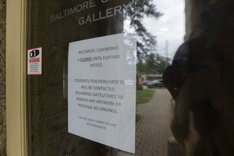 Baltimore Clayworks as seen on July 23, 2017, the last day for artists to clean out their work and belonging from the studio space. Housed in a former Enoch Pratt library building in Mt. Washington, Baltimore Clayworks has $1 million in debt and now faces bankruptcy. (Christina Tkacik/Baltimore Sun)