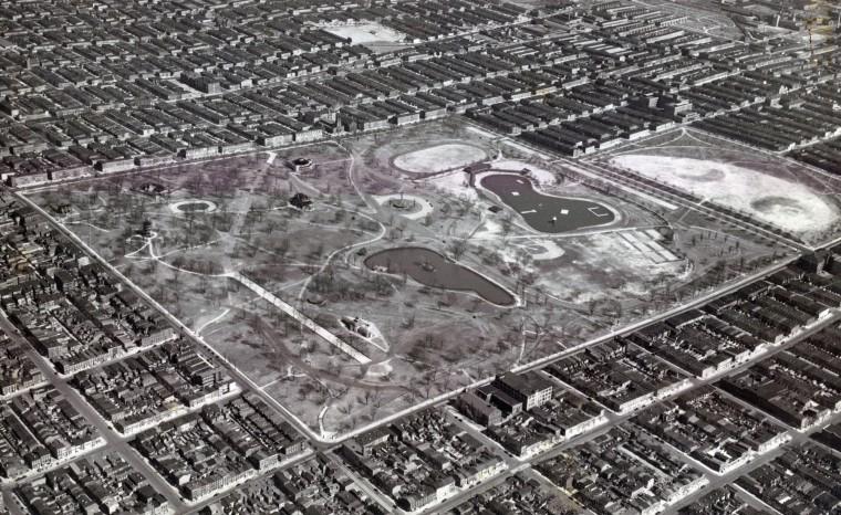 Patterson Park in March 1939. (Robert Kniesche/Baltimore Sun)