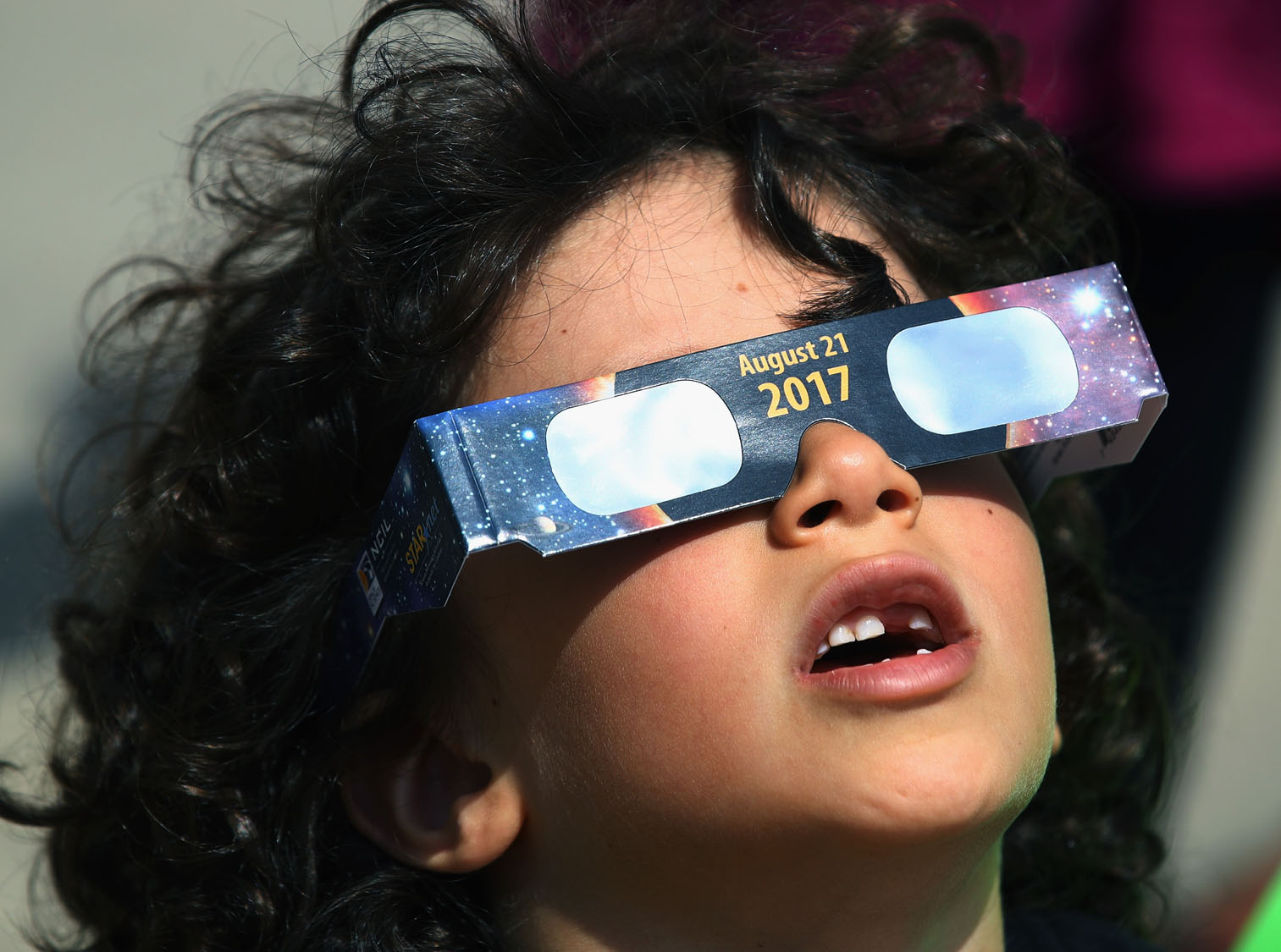 Spectators across the U.S. look skyward for solar eclipse