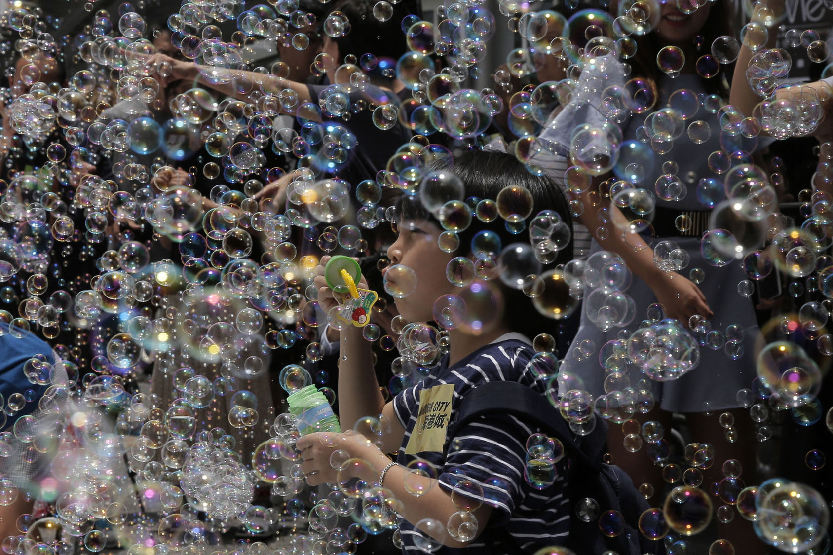 'Bubble Up' installation in Hong Kong