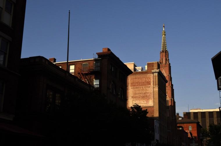Progress Federal Savings and Loan ghost sign on W. Saratoga St. (Kim Hairston/Baltimore Sun)