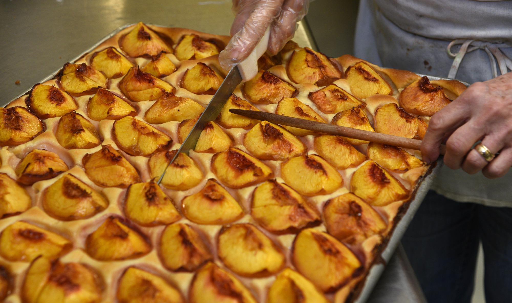 Baltimore Peach Cake at the Fenwick Bakery