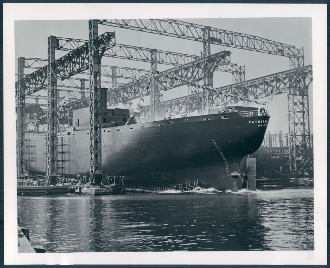 The Patrick Henry Liberty Ship, the first constructed at the Bethlehem Steel Shipards, in photo dated September 27, 1941. (Baltimore Sun archives)