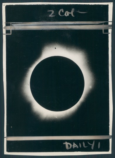 Solar eclipse dated 1929. (Baltimore Sun archives)