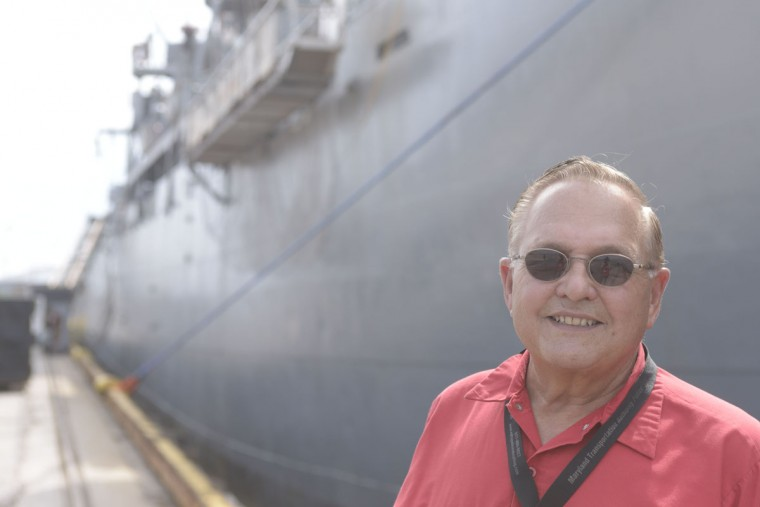 """It's like any other ship except it's not moving,"" said Paul Johnson, a volunteer security officer, age 71. The ship requires regular maintenance, and several hundred volunteers see that the electrical work and other repairs are taken care of. (Christina Tkacik/Baltimore Sun)"